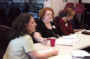 Community members participate in a focus group